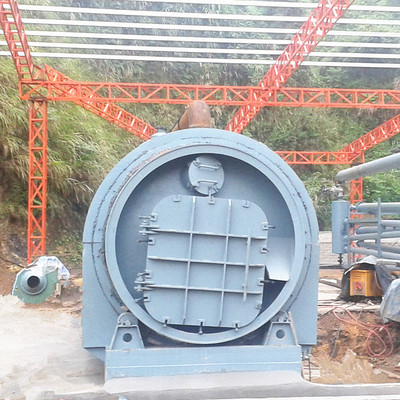 Waste rubber and plastic recycling pyrolysis machine