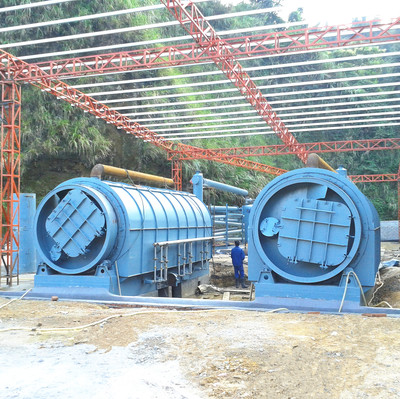 Hot sale used tire pyrolysis to fuel oil machine