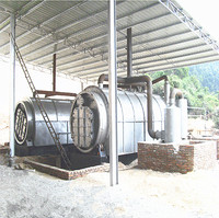 waste tire and plastic recycling to fuel oil  machine (18)_副本