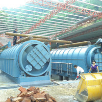 Waste rubber and plastic pyrolysis to fuel oil machine